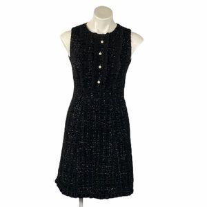 Kate Spade Tweed Sparkle Dress Pearl 0 Metallic